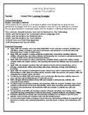 Learning Strategies Syllabus