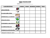 Learning Strategies Weekly Tracking Sheet