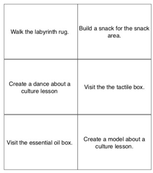 Learning Style Activity Cards