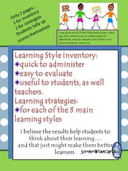 Are Learning Styles Real And Useful >> Learning Style Inventory With Learning Strategies For Each Style