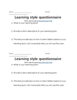 examples of learning styles