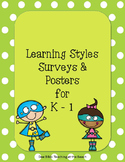 Learning Style Survey and Posters for K - 1 - UPDATED