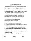 Learning Styles Assessment (Spanish)