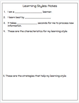 Learning Styles Inventory