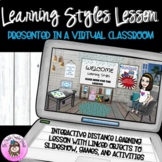 Learning Styles Lesson & Virtual Classroom for Seeing, Hea