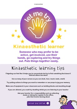 Learning Styles Quiz & Posters Pack - Visual, Audio & Kinaesthetic