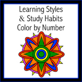 Learning Styles & Study Habits Color by Number