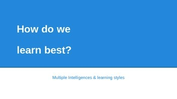 Learning Styles Survey Powerpoint