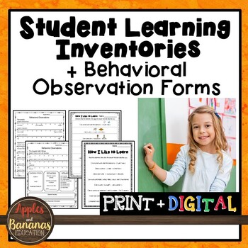 Learning Styles Inventories and Behavioral Observation Forms
