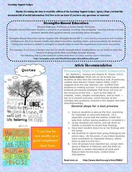 Learning Support Ledger - Newsletter for Teachers