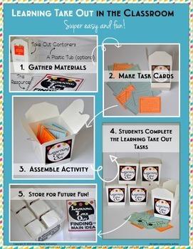 Learning Take Out Bundle - Figurative Language, Main Idea, Theme