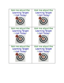 Learning Target Badge