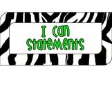 Learning Target Board Zebra Print