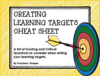 Learning Target Cheat Sheet
