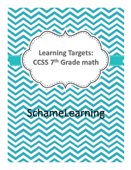 Learning Targets Common Core Math