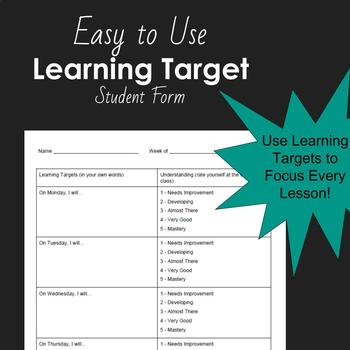 Learning Target Daily Log