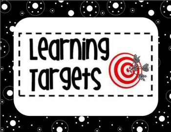 Learning Target Display- Black Polka Dots