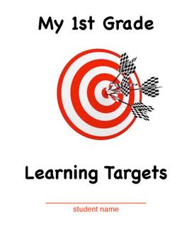 1st Grade Learning Target Folder Cover Sheet