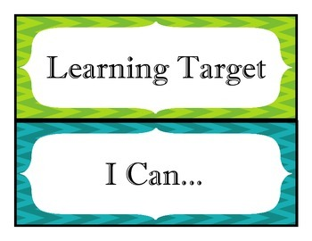Learning Target, I Can Headers