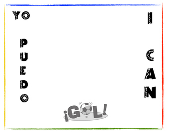Learning Target-I Can Statement-Soccer themed for Spanish class 1