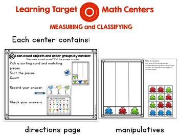 Learning Target Math Centers: Measuring and Classifying
