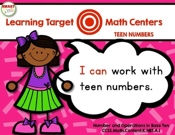 Learning Target Math Centers: Teen Numbers