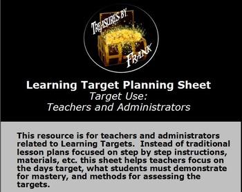 Learning Target Planning Sheet