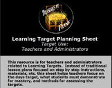 Learning Target Planning Sheet
