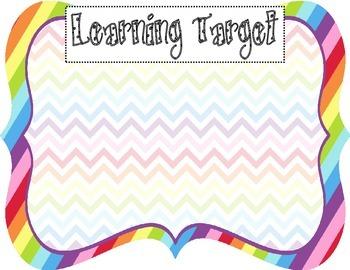 Learning Target Poster (rainbow chevron)