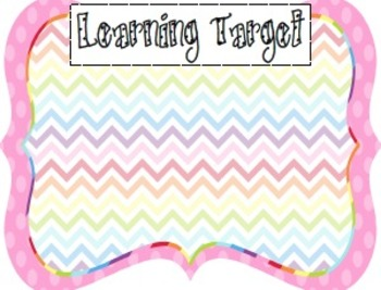 Learning Target Poster Pack (2)