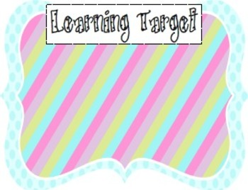 Learning Target Poster Pack (4)