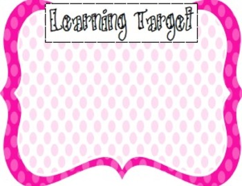 Learning Target Poster Pack (7)