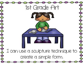Learning Target Poster Set for 1st Grade Art