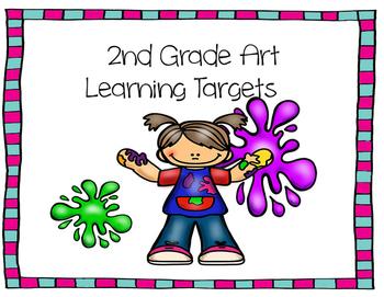 Learning Target Poster Set for 2nd Grade Art