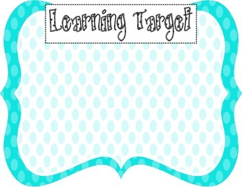 Learning Target Poster (blue dots)