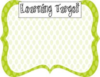 Learning Target Poster (green dot)
