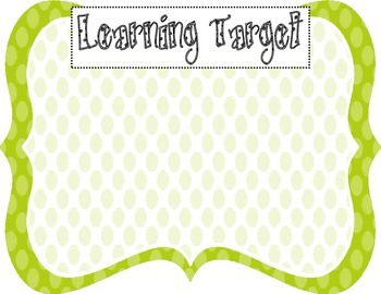 Learning Target Poster (green dot)