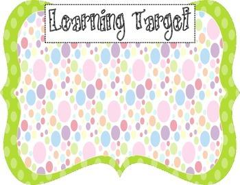 Learning Target Poster (green dot rainbow dot)