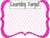Learning Target Poster (pink dot)