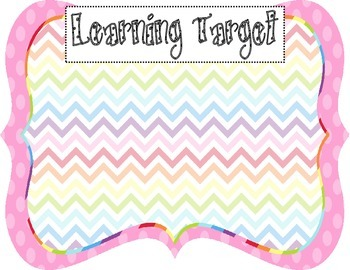 Learning Target Poster (pink dot chevron rainbow)