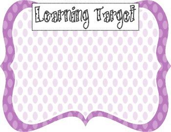 Learning Target Poster (purple dot)