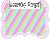 Learning Target Poster (purple dot rainbow stripe)