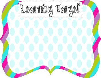 Learning Target Poster (rainbow blue dot)