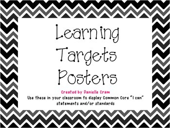 Learning Target Posters-B&W Chevron