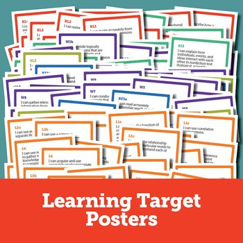 Learning Target Posters and ELA Standards Chart for 5th Grade