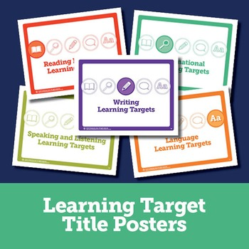 Learning Target Posters and ELA Standards Chart for 7th Grade