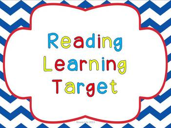 Learning Target Printable Cards