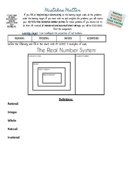 Learning Target Remediation(for Radicals, Exponents, and The Real Number System)