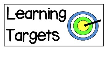 Learning Target Signs By Kandy E Rush