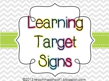 Learning Target Signs - Chevron